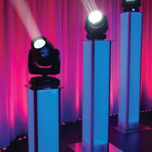 BATTERY POWERED MOVING HEADS